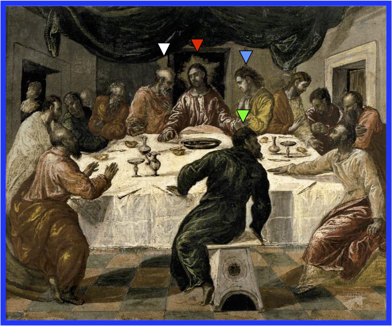 の 位置 の 最後 ユダ 晩餐